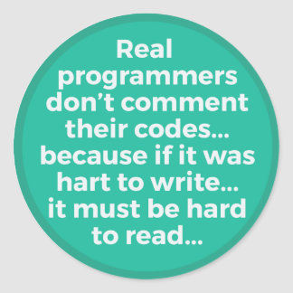 Wirkliche Programmierer Runder Aufkleber
