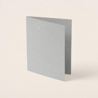 Wirkliche silberne Folien-graue Folienkarte