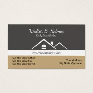 Wirklicher Anwesen-Vermittler Visitenkarte
