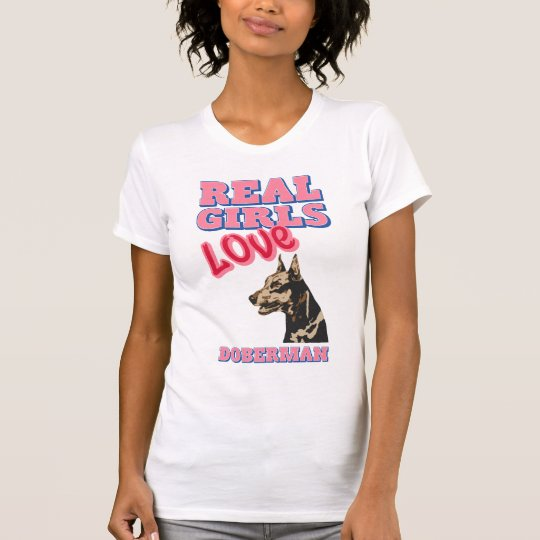 Wirklicher Mädchen-Liebe-Dobermann T-Shirt