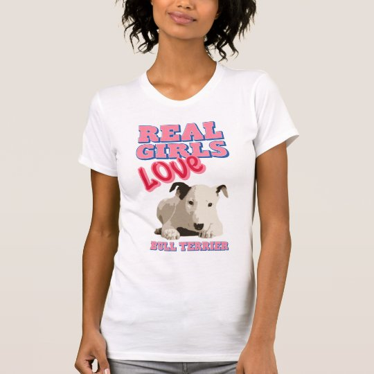 Wirklicher Mädchen-Liebe-Stier-Terrier T-Shirt