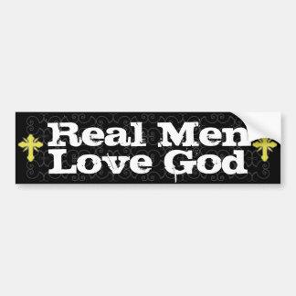 Wirklicher Mann-Liebe-Gott christlich Autosticker