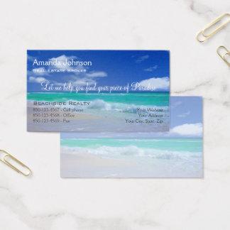 Wirkliches Anwesen-Stück Paradies-Strand-Wellen Visitenkarte