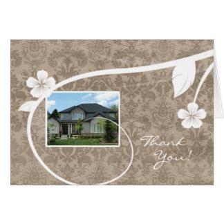 Wirkliches Anwesen-Zuhause danken Ihnen Karte