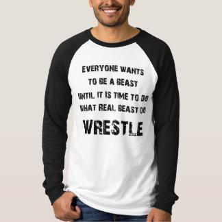 Wirkliches Tier-Wringen T-Shirt