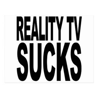 Wirklichkeit Fernsehen ist zum Kotzen Postkarte