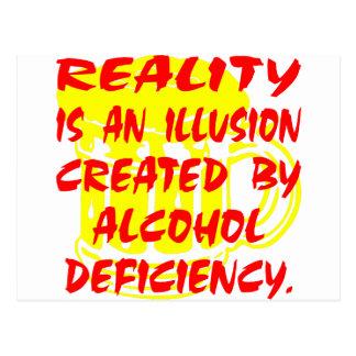 Wirklichkeit ist eine Illusion wegen des Postkarte
