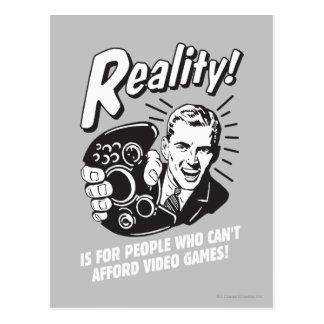 Wirklichkeit: Kann sich Videospiele nicht leisten Postkarte