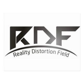 Wirklichkeits-Verzerrungs-Feld Postkarte