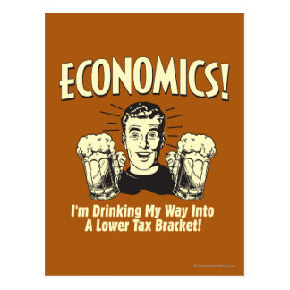 Wirtschaft: Trinkende untere Steuergruppe Postkarte