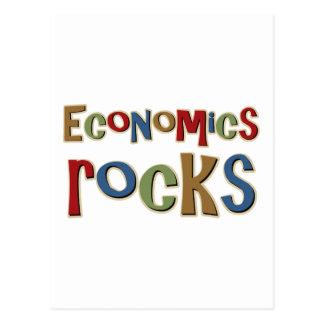 Wirtschafts-Felsen Postkarte