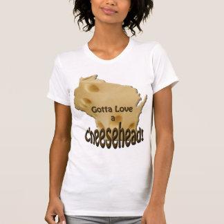 Wisconsin gelangte an Liebe einen Cheesehead T - T-Shirt