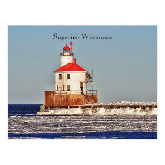 Wisconsin-Leuchtturm-Postkarte Postkarte