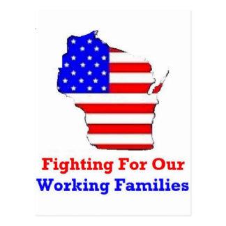 Wisconsin-Proteste Postkarte