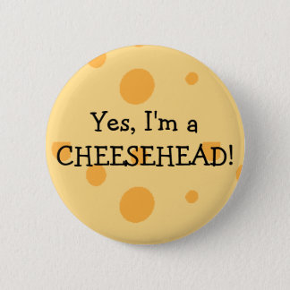 Wisconsin-Spaß Cheesehead Knopf Runder Button 5,7 Cm