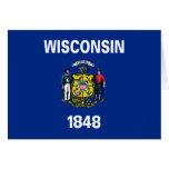 Wisconsin-Staats-Flagge Karten