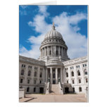 Wisconsin-Staats-Hauptstadts-Gebäude und Eingang Grußkarte