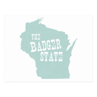 Wisconsin-Staats-Motto-Slogan Postkarte