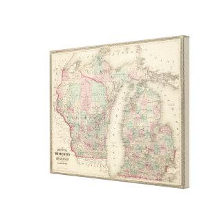 Wisconsin und Michigan Leinwanddruck