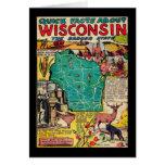 Wisconsinkarte und -tatsachen grußkarten