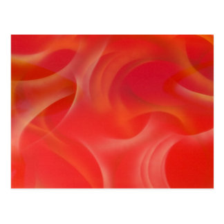 wispy orange hotrod Flammen Postkarte