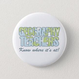 Wissen Geografie-Lehrer, wo es an ist Runder Button 5,1 Cm