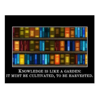 Wissen ist ein kultiviert zu werden Garten, Postkarte