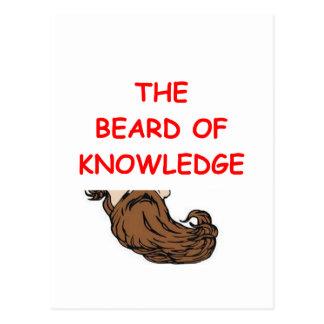 Wissen Postkarte