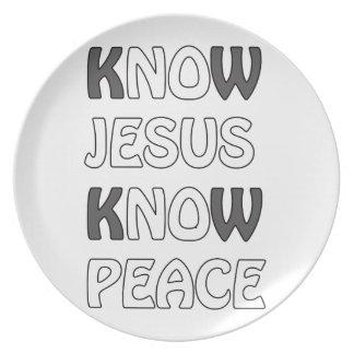 Wissen Sie, dass Jesus Frieden kein Jesus kein Essteller