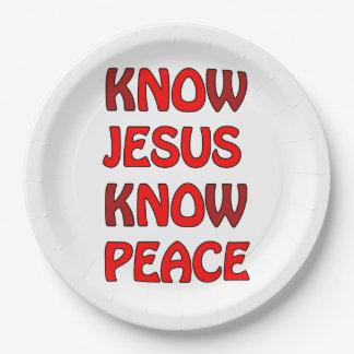 Wissen Sie, dass Jesus Frieden kein Jesus kein Pappteller