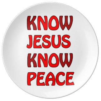 Wissen Sie, dass Jesus Frieden kein Jesus kein Porzellanteller