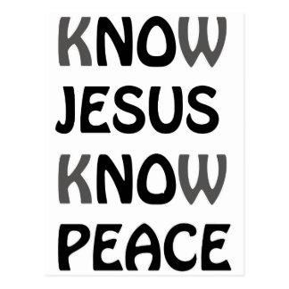 Wissen Sie, dass Jesus Frieden kein Jesus kein Postkarte