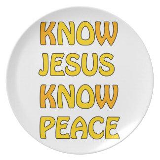 Wissen Sie, dass Jesus Frieden kein Jesus kein Teller