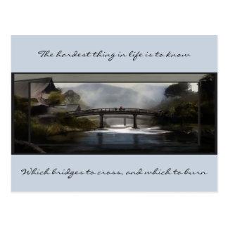 Wissen Sie, welche Brücke Postkarte