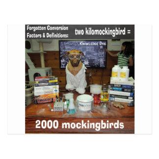 Wissens-Hund vergessenes Umwandlung Postkarte