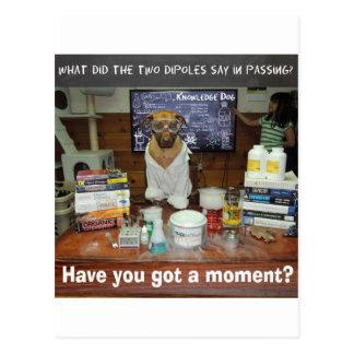 Wissens-Hundedipol-Moment Postkarte
