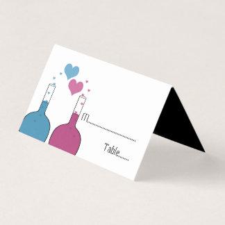 Wissenschaft der Liebe Wedding Tented Platzkarten Platzkarte