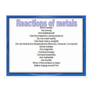 Wissenschaft, Eigenschaften der Metalle Postkarte