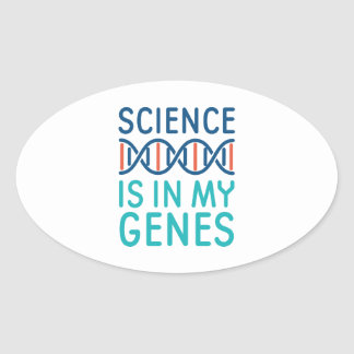 Wissenschaft ist in meinen Genen Ovaler Aufkleber