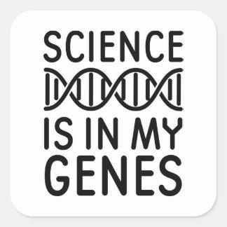 Wissenschaft ist in meinen Genen Quadratischer Aufkleber