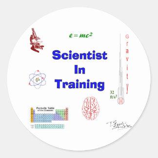 Wissenschaftler im Training Runder Aufkleber