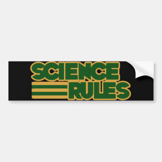 Wissenschafts-Regeln Autoaufkleber