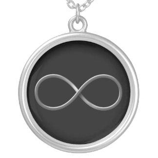 Wissenschafts-Regeln des Unendlichkeits-Symbol-| Halskette Mit Rundem Anhänger
