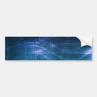 Wissenschafts-Technologie-Blau Autoaufkleber