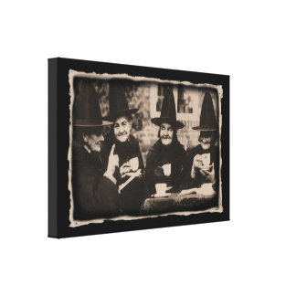 Witches Tea Party – old black/white Leinwanddruck