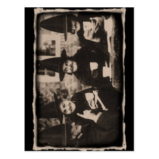 Witches Tea Party – old black/white Postkarte