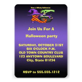 Witchy Halloween Einladungen