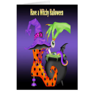 Witchy Halloween Gruß-Karten Grußkarte