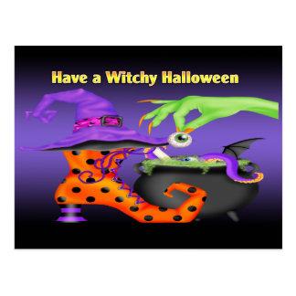 Witchy Halloween Postkarte