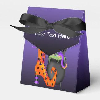 Witchy Halloween Zelt-Bevorzugungs-Kasten Geschenkschachtel